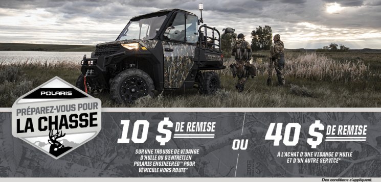 AOÛT – PROMOTION POLARIS OFF-ROAD