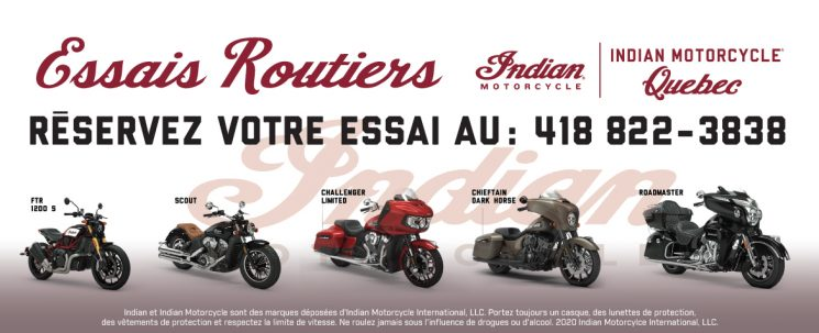 ESSAIS ROUTIERS INDIAN MOTORCYCLE CHEZ PRO-PERFORMANCE